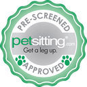 Pre-Screened by Petsitting.com Seal of Approval.  FamilyPet.com, (which includes Petsitting.com, LocalDogWalker.com,